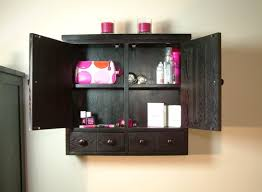 black bathroom wall cabinet trend with additional small home