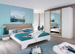 chambre contemporaine blanche lit adulte contemporain avec chevets blanc chêne clair nahel lit