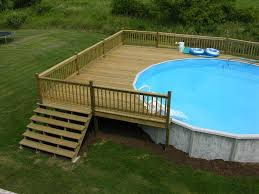 image result for 24 ft above ground pool deck plans decks