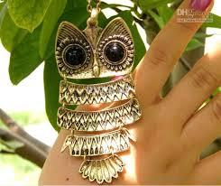 wholesale vintage style bronze silver owl necklace dangle fashion