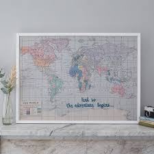 World Map Push Pin Board by And So The Adventure Begins U0027 Map Notice Board By The Crafty