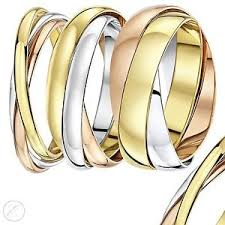 russian wedding rings 9ct russian wedding ring multi tone 3 colour gold band three