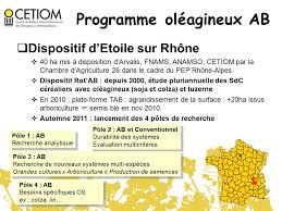 chambre agriculture 26 orientations du programme agriculture biologique du cetiom