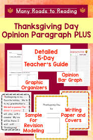 thanksgiving day opinion paragraph lesson plan plus many roads