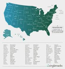 Map Of States With Capitals by The 51 Mountain Bike Capitals Of The United States Singletracks
