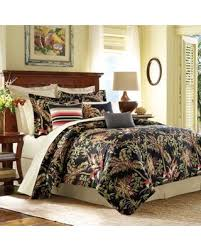 big deal on tommy bahama jungle drive king duvet cover in black