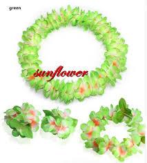 hula wristband headband neck leis garland fancy dress costume