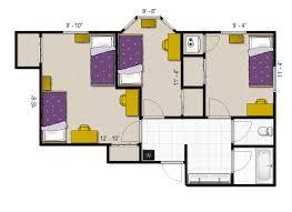 college dorm floor plans appleby east u0026 west university of north alabama
