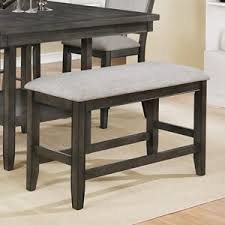 murphy table and benches coaster murphy rustic dining bench with metal u base miskelly
