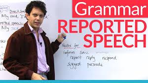 learn english grammar reported speech indirect speech youtube