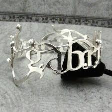 handmade pierced name bangle bracelet sterling silver