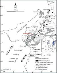 Map Of Cameroon Location Map Of The Cameroon Volcanic Line Cvl With The Main