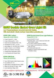 growers choice horticultural lighting 630w cmh double ended grow