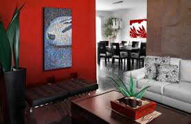 interior fancy ideas for colorful interior decoration using red