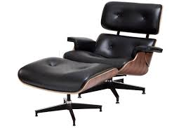 replica charles eames lounge and ottoman rosewood with black