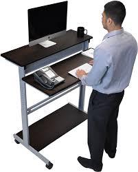 Stand Up Computer Desk Adjustable Bright Ideas Stand Up Computer Desk Standing Workstation Costco