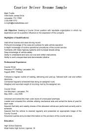Delivery Driver Resume Example by Creative Work Experience And Certifications For Delivery Driver