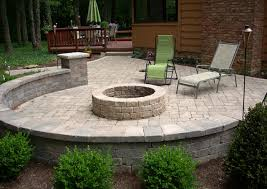 Backyard Firepits A Backyard Pit Traditional Patio Cleveland Grafs Backyard