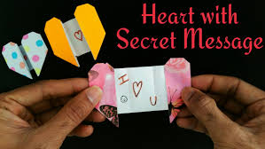 heart greetings card with a secret message for valentine u0027s day