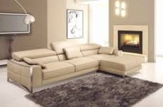 canap cuir beige canap mobilier privé