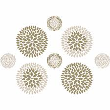 wallpops chrysanthemum wall art decals kit walmart com