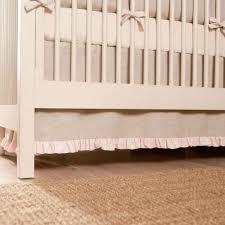 Beige Crib Bedding Set Light Pink Linen Crib Bedding Baby Crib Bedding Carousel