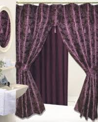 Fabric Shower Curtain With Window Swag Shower Curtain Foter