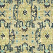 Yellow Home Decor Fabric Chartreuse Ikat Woven Upholstery Fabric For Furniture Large