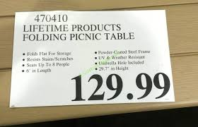 how to open folding table lifetime tables costco lifetime fold in half table light commercial