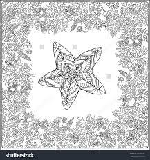 coloring page corals sea shells stock vector 396388180