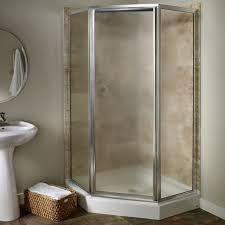 custom euro frameless neo angle shower door american standard tub and shower doors custom euro frameless neo angle shower door brushed nickel