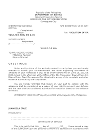 Sle Certification Letter Philippines Certification Letter For Subpoena 28 Images Forms Of