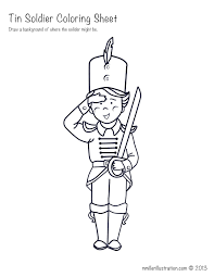 picture this tin soldier coloring sheet