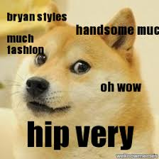 Oh Wow Meme - doge handsome much bryan styles much fashion oh wow hip very