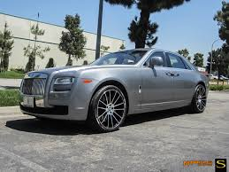 roll royce ghost all black ghost savini wheels