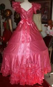 Eighties Prom Vintage 80 U0027s Prom Dress Rare Sz 16 Metallic Green Pink Loralie Old