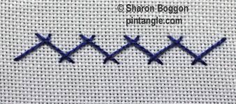 Fish Bone Stitch Embroidery Tutorials Herringbone Stitch Tutorial Pintangle