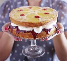 pineapple u0026 cherry upside down sandwich cake recipe bbc good food
