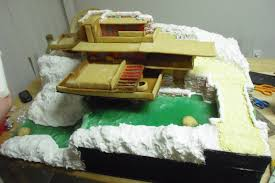 Frank Lloyd Wright Falling Water Interior Melodie Dearden Creates A Perfect Gingerbread Replica Of Frank