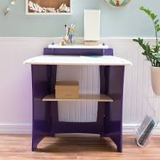 legare kids 43 in desk with shelf and file cart purple and