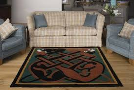 wall hanging area rug square medieval celtic design handtufted