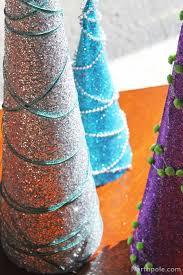 craft cottage sparkly glitter trees