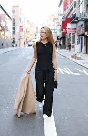 norma kamali jumpsuit pinstripe jumpsuit memorandum nyc fashion lifestyle for