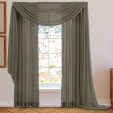 Silver Window Curtains Gray Silver Swag Valances Kitchen Curtains You Ll Wayfair