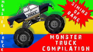 monster truck video for kids monkey boy u sewer haunted house scary car garage haunted monster