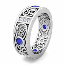 celtic mens wedding bands celtic knot diamond wedding band ring for men in platinum