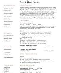 security guard sample resume jobs billybullock us