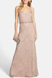 papell dress papell taupe pink deco bead blouson gown dress poshare
