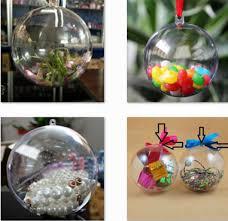 christmas ornament favors transparent clear plastic hollow sphere store window wedding