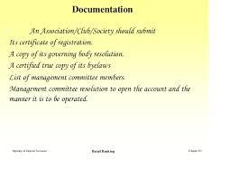 opening of deposit accounts